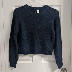 H&M Divided Navy Blue Basic Knit Sweater